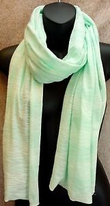 27c46b94c5483 NEW OLD NAVY Light Teal Striped Cotton Blend Scarf Women s One Size ...