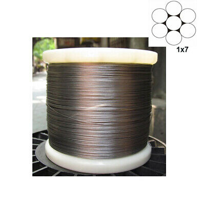 0.5mm 1x7 100/% 316Stainless Steel Cable Wire Rope 100feet