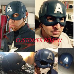 Marvel Avengers Super Hero Captain America Face Mask Steve Rogers Cosplay Mask