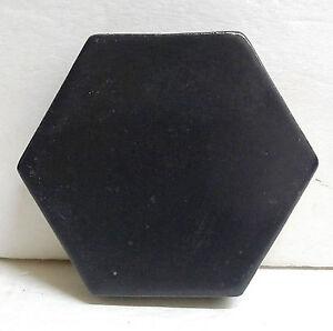 Image Is Loading Vintage California Malibu Matte Black Hexagon Tile