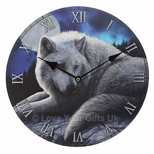 The-Guardian-of-the-North-Wolf-Picture-Wall-Clock-30cm-High-Lisa-Parker