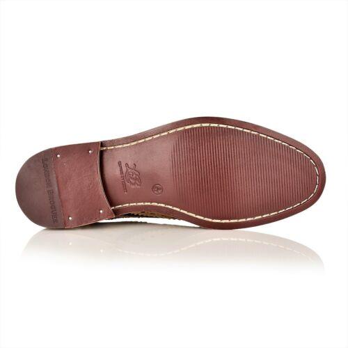 Nuevo Para hombres Cuero lleno de Londres Cuero Calado Cuero Calado 5 Ojo Zapatos Con Cordones Inteligente Watson