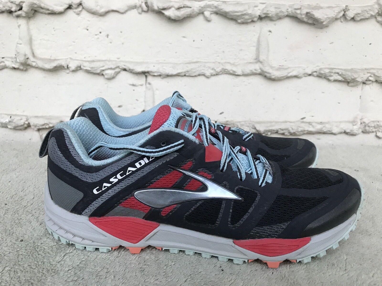 mint brooks cascadia 11 trail chaussures femmes gray noir - rouge - femmes chaussures est nous 11b 3c2542
