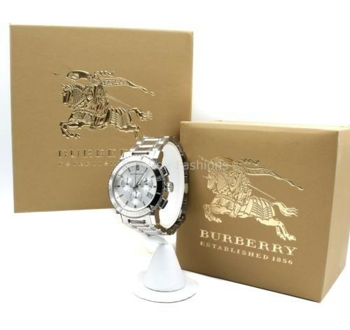 795e67dac2c Burberry Classic Check Watch BU9700 Unisex The City Chronograph Silver Date  for sale online