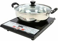Tayama Sm15-16a3 Induction Cooker With Cooking Pot, Black, New, Free Shipping on Sale
