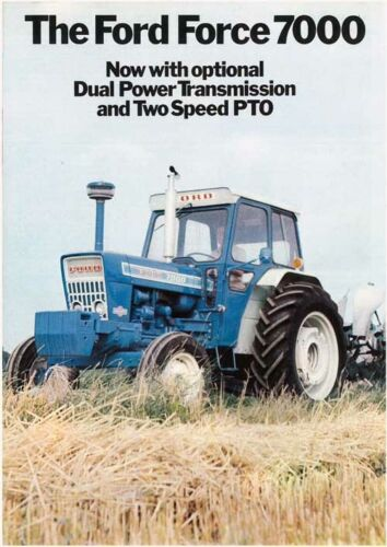 FORD 7000 TRACTOR SALES COVER BROCHURE//POSTER 80/'s ADVERTISEMENT ULTRA RARE A3