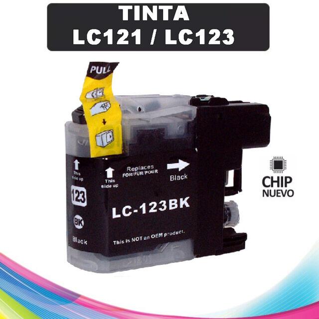 TINTA NEGRA LC-121 LC-123 COMPATIBLE NONOEM BROTHER CARTUCHO NEGRO LC121 LC123