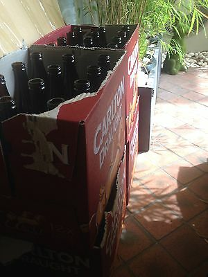 x120 Carlton Draught Long Neck Empty Beer Bottles Home Brew/Sauce Toorak