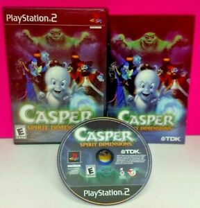 Casper-Ghost-Spirit-Dimensions-PS2-Playstation-2-Complete-Game-Rare-Complete