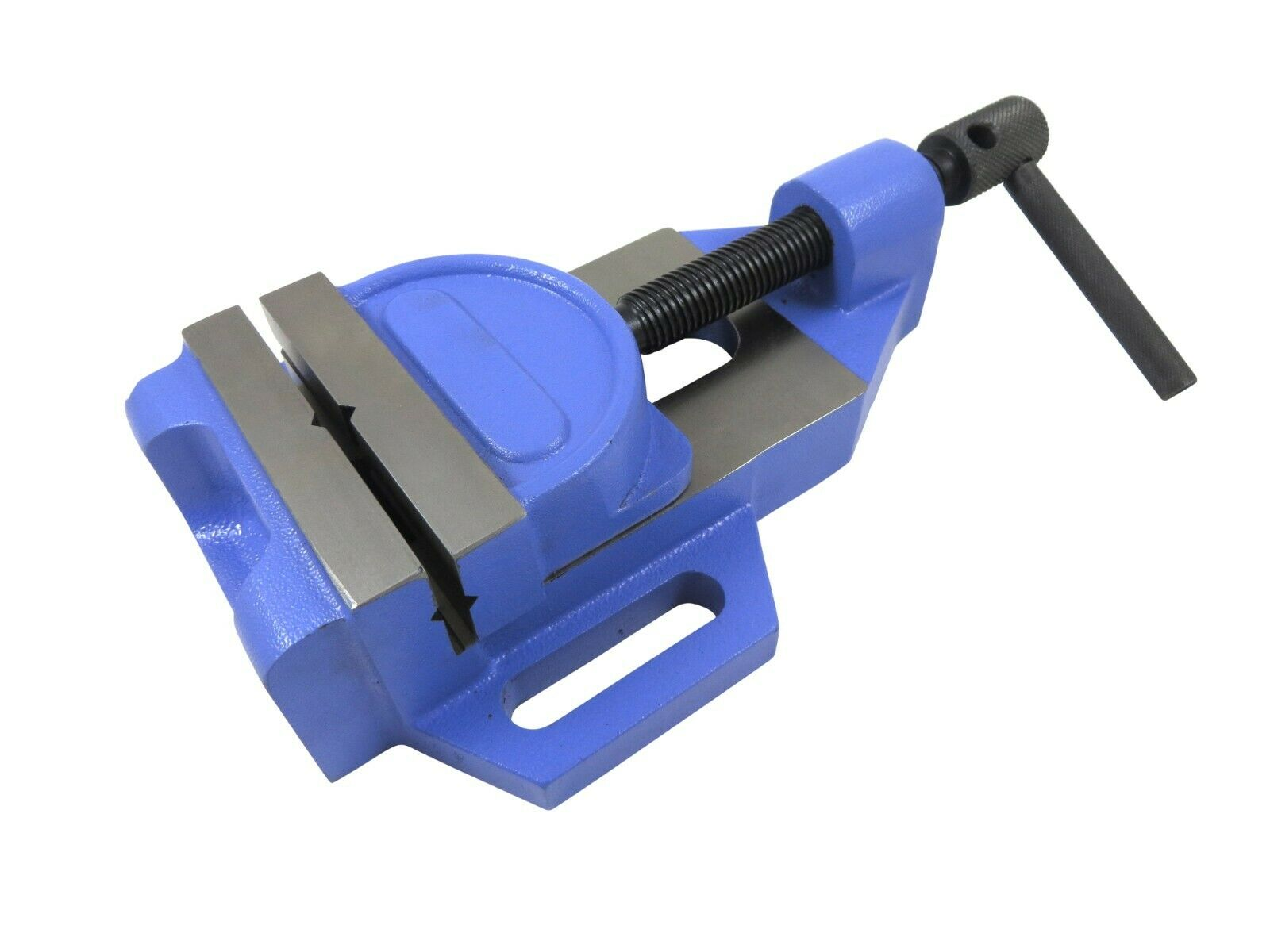 Jaw Drill Press Vise, 4  Wide Jaws, Max Opening 3-1 8 , Jaws Tilts 40 degrees