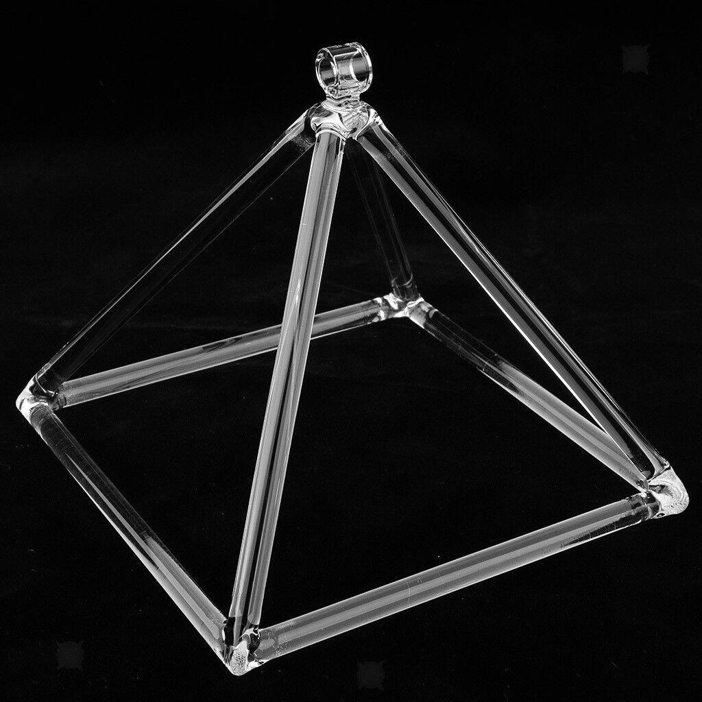 7'' C Note Quartz Crystal Singing Pyramid for Meditaiton Musical Instrument