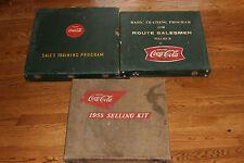 3 RARE Coca-Cola Selling Kits 1955 Kit, Sales Training Program, Route Salesmen 2