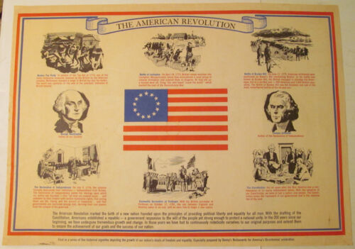 '76 Bicentennial American Revolution Denny's Placemat