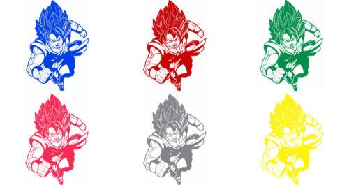 Decal Vinyl Truck Car Sticker Dragon Ball Z Super Saiyan God Goku