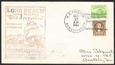 US Navy Frigate USS CONSTITUTION Long Beach California 10-17-1933 Naval Cover