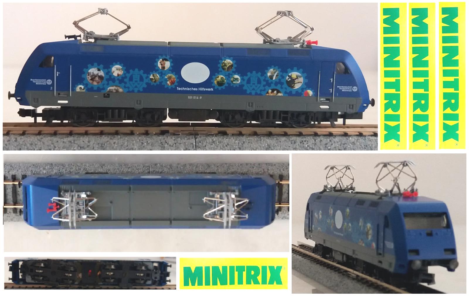 MINITRIX LOCOMOTORE ELETTRICO BR101 014-9 DB CONTROLLO LINEE ELETTRICHE SCALA-N