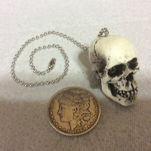 1 Skull Fan Light Pull Chain Punk Goth Made Usa Skeleton