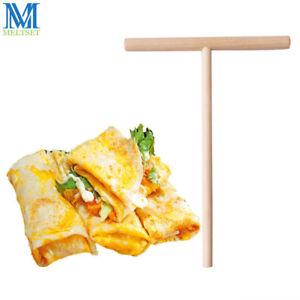 Wooden Pancake Spreader Crepe Tortilla Rake Batter