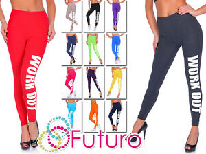 Work-Out-Printed-Full-Length-Cotton-Active-Leggings-Joggers-Gym-Fitness-Uk-Stock