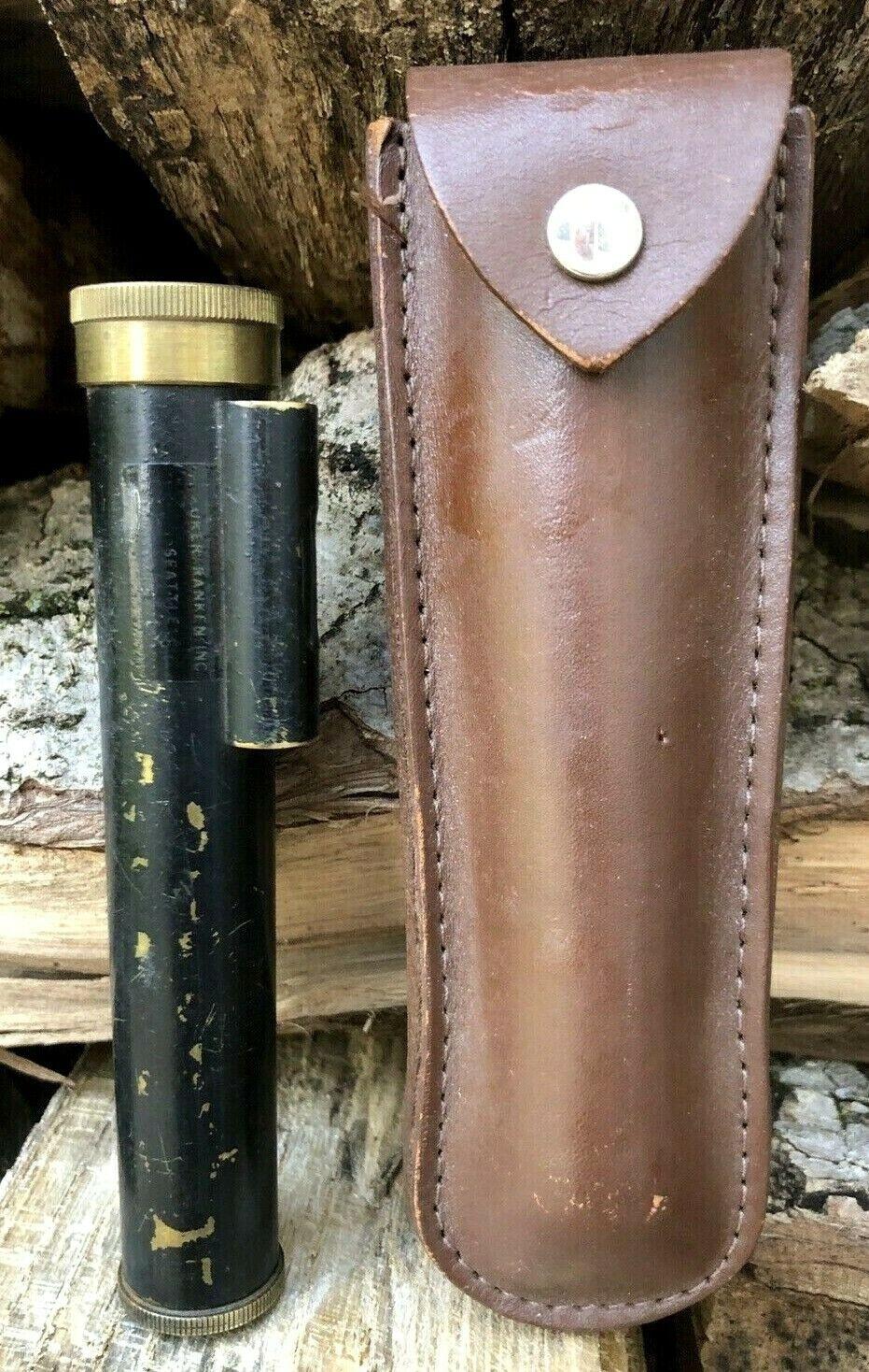 Vintage Kuker-Ranken Seattle Engineer Surveyor Hand Level Scope Tool Brass