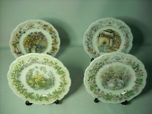 Choose-ONE-OR-MORE-8-034-Plates-FOUR-SEASONS-BRAMBLY-HEDGE-Royal-Doulton