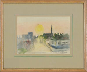 Edward-Morgan-1933-2009-Signed-amp-Framed-20th-Century-Watercolour-What-Next