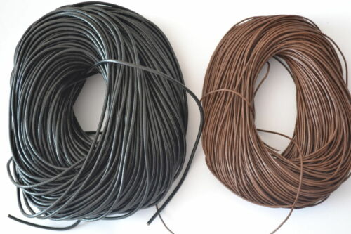 Hot Black Brown 10M//50M//100M Cords Genuine Leather Thong 1mm//1.5mm//2mm//3mm