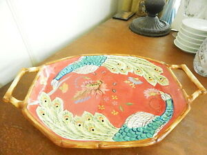 Image is loading Tracy-Porter-ARTESIAN-ROAD-Collection-Peacock-Serving-Tray- & Tracy Porter ARTESIAN ROAD Collection Peacock Serving Tray Platter ...