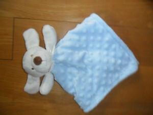 Schmusetuch-Hund-hellblau-mit-Schleife-von-blankets-beyond-neuw