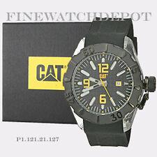 Authentic Caterpillar Men's Black Dial Analog Bigcap Quartz Watch P1.121.21.127