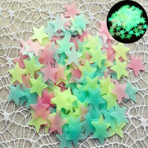 100pcs-3D-Stars-Glow-In-The-Dark-Luminous-Fluorescent-Wall-Stickers-Room-Decor