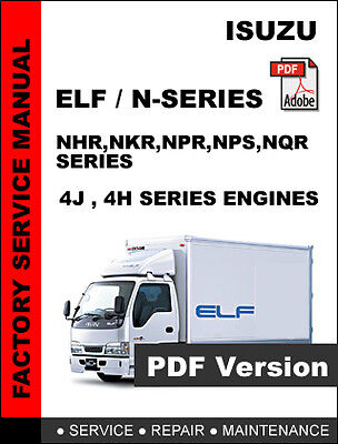 isuzu elf n series truck factory oem service repair workshop rh ebay com isuzu elf owners manual pdf isuzu elf service manual pdf