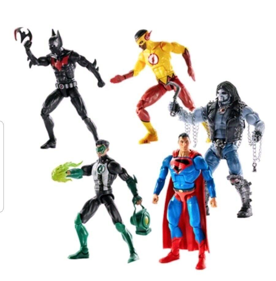 DC Multiverse Wave 10 Action Figure Lot CNC Lobo Beyond Kid Flash Kyle Superman