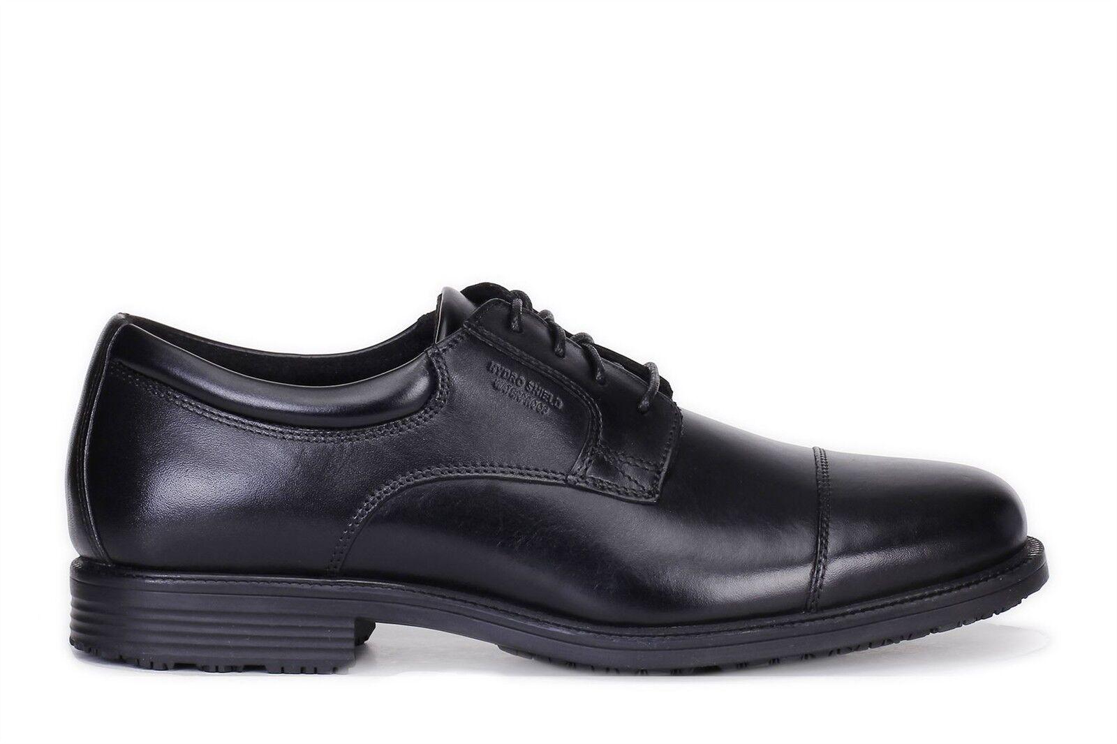 Rockport Mens Essential Details WP Cap Toe Oxford Shoes Black V73839