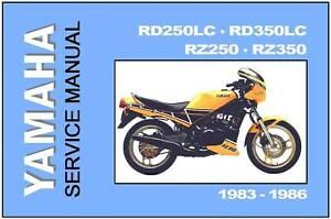 yamaha workshop manual rd250 rd350 rd350lc rz250 rz350 1983 1984 rh ebay com Yamaha RZ500 Yamaha TZ750