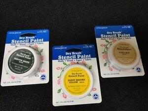 2019 Nouveau Style Sec Brosse Pochoir Peinture Vert Ylw Ecru Couleurs Murs Bois Papier Tissu Plaid
