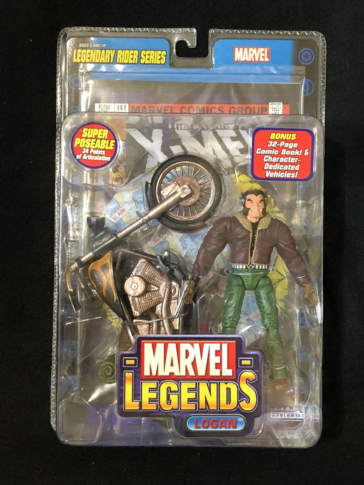 Marvel Legends LOGAN Legendary Rider Series Action Figure ToyBiz 2005 SEALED