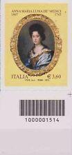 1514 CODICE A BARRE DESTRO O SINISTRO Anna Maria Luisa dè Medici  3.60 ANNO 2013