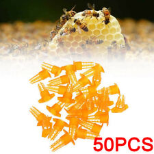 50pcs Tools For Hive Bee King Protection Cover Rearing Tools Queen Cage Usa