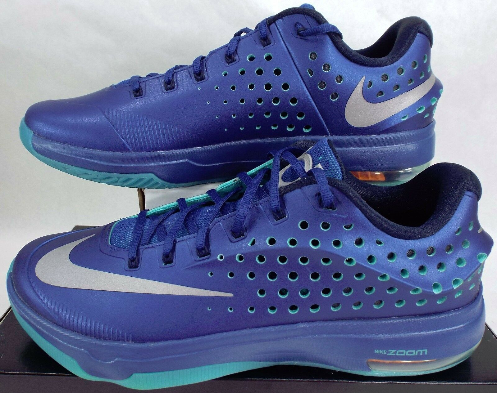 New Mens 13 NIKE KD VII Gym Blue Basketball Shoes  724349-404