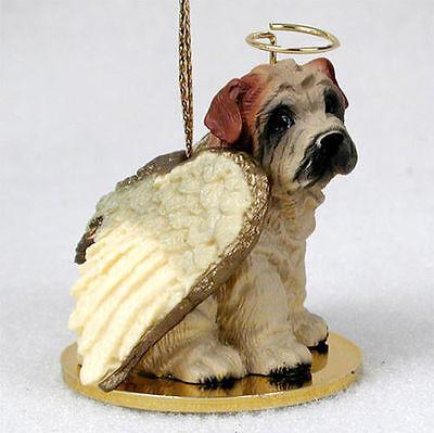 Shar Pei Dog Figurine Angel Statue Hand Painted Cream