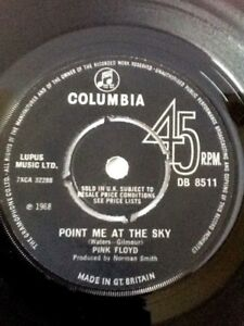 Pink-Floyd-Point-Me-At-The-Sky-7-034-vinyl-1st-UK-Press-1968-Columbia-DB-8511-RARE