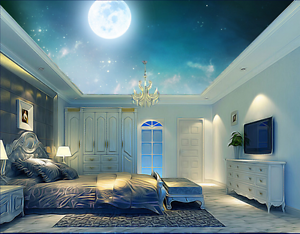 3D Hazy Sky Moon 784 Ceiling WallPaper Murals Wall Print Decal Deco AJ WALLPAPER