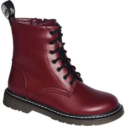 Vegetariana 7 agujeros botas botas 37 38 39 40 41 42 43 44 45 46 rojo Oxblood Cherry Red