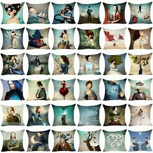 Christian-Taie-d-039-oreiller-en-Coton-Lin-Canape-Cushion-Cover-Throw-Pillow-Cover