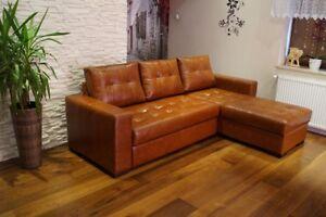 Echtleder Ecksofa Couch Mit Schlaffunktion Viele Farben Echt Leder