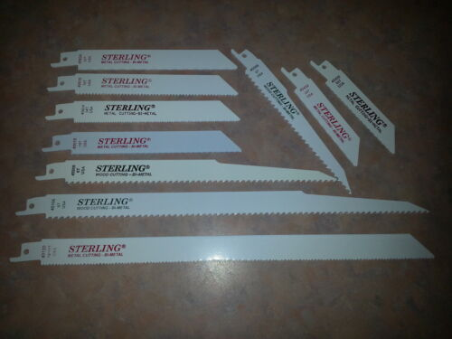 Assorted Reciprocating Sawzall blades for Bosch USA 10