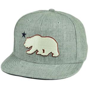 CALIFORNIA REPUBLIC Snapback Cap Hat CALI Bear Flag Black White Flat Bill NWT
