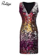 item 3 Womens Ladies Sequin Deep V Neck Mini Dress Party Clubwear Evening Plunge  Dress -Womens Ladies Sequin Deep V Neck Mini Dress Party Clubwear Evening  ... 29d3e8ff9
