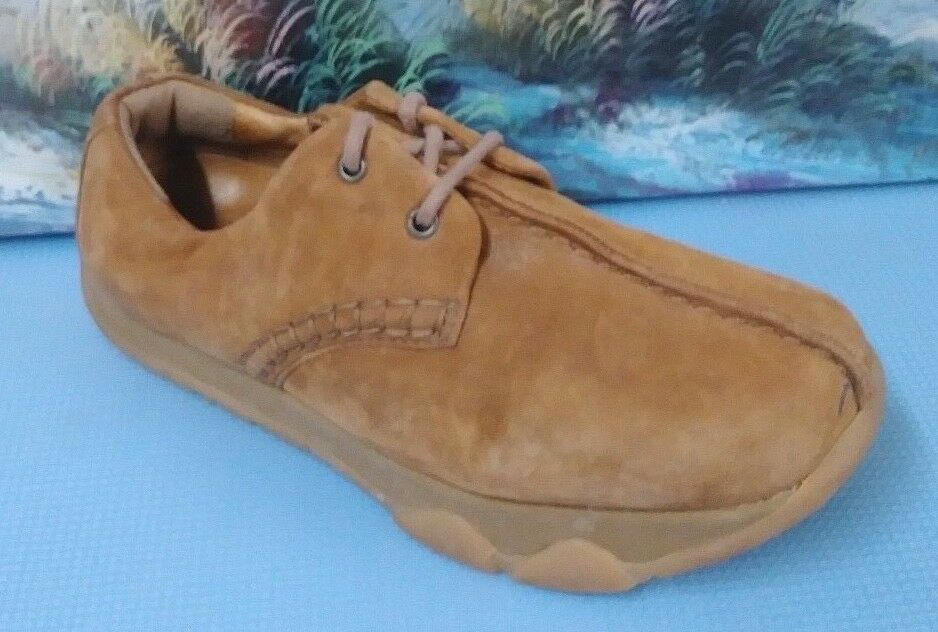 Earth Balance Damens 8/38 men6 Nubuck Leder Mocha Lace Up Flat Schuhe Beige Braun